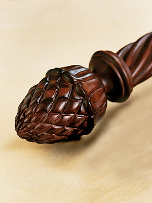 Robert Allen Hardware Pinecone Large Finial Pair Shown in Cherry Search Results