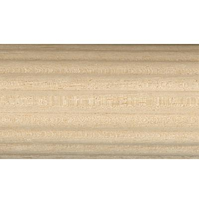 Vesta 2 1/4in Diameter Reeded Unfinished Pole  Budget Unfinished Wood Curtain Rods