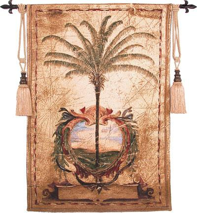 Fine Art Tapestries Sunset Palm  Tropical Tapestry
