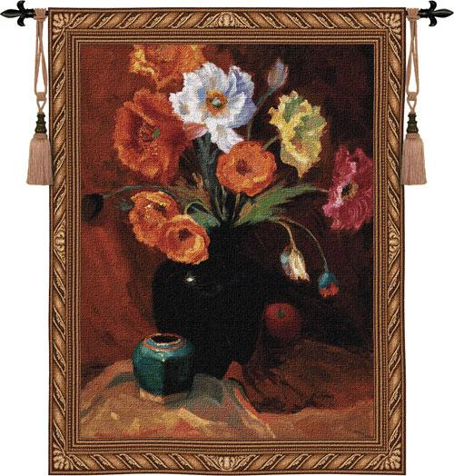 Fine Art Tapestries Poppies in Black  Search Results