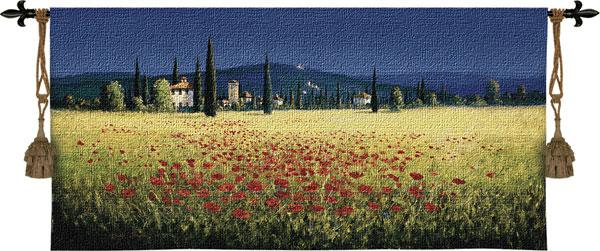Fine Art Tapestries Tuscan Panorama Poppies  Search Results