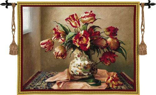 Fine Art Tapestries Tulips in Oriental Vase  Search Results