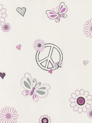 Brewster Wallcovering Love Child Pink Peace And Love Pink Just For Girls