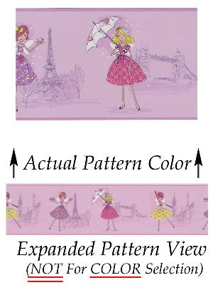 Brewster Wallcovering Fairy Tea Time Border Purple European Party Border Purple Just For Girls