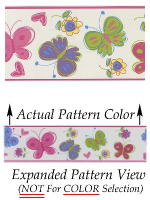 Brewster Wallcovering Butterfly Garden Border Pink Butterfly Border Pink Search Results