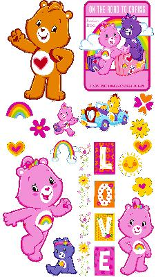 Brewster Wallcovering Care Bears Appliques  Baby Nursery Wallpaper