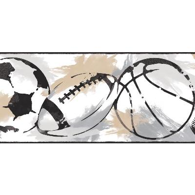 York Wallcovering Sports Balls Border                                White/Off Whites     Search Results