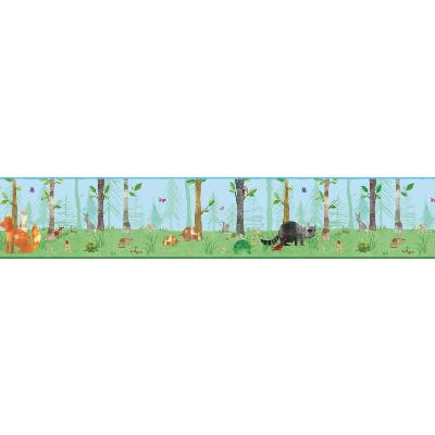 York Wallcovering Woodland Border                                    Blues                Search Results