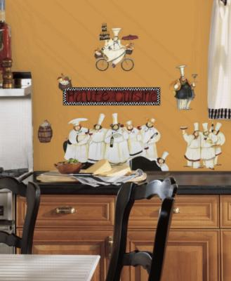 York Wallcovering Chefs Peel & Stick Wall Decals White Wall Murals and Wall Stickers