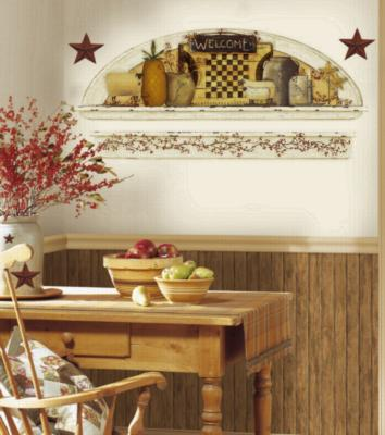York Wallcovering Primitive Arch Peel & Stick Wall Decals Multi Wall Stickers Decals