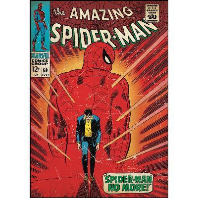 York Wallcovering Comic Book Cover - Spiderman Walking Away Peel & Stick Comic Book Cover Multi Spiderman