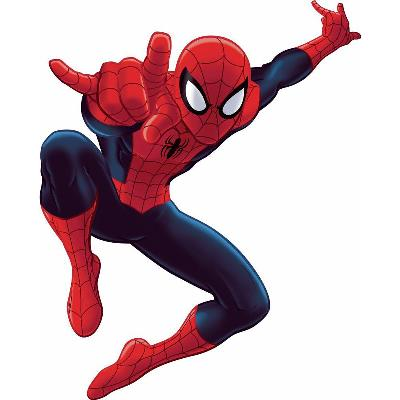 York Wallcovering Spiderman - Ultimate Spiderman Peel & Stick Giant Wall Decal Red Spiderman