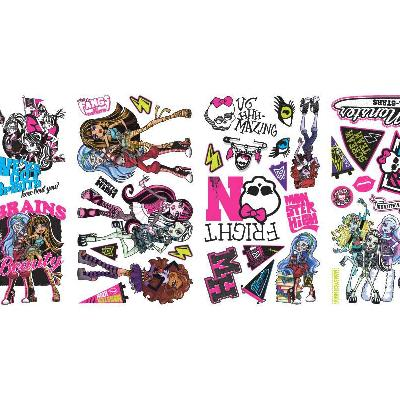 York Wallcovering Monster High Peel & Stick Wall Decals Multi Search Results