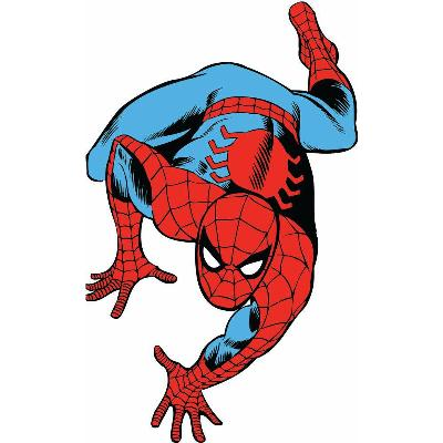 York Wallcovering Marvel Classic Spiderman Peel and Stick Giant Wall Decals Multi Spiderman