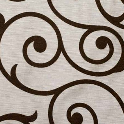Softline Home Fashions Serafina Scroll Latte Chocolate Search Results