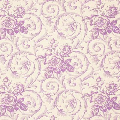 Vervain Fabrics JULIANNA LILAC French Country Toile Fabric