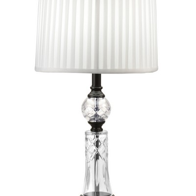 Dale Tiffany Darya 24% Lead Hand Cut Crystal Table Lamp Ebony Black Dale Tiffany Lamps