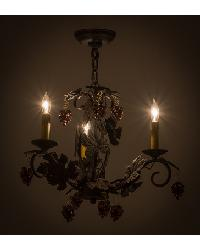 Vineyard 3 LT W Crystals Chandelier by