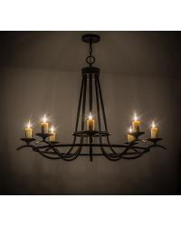Octavia 8 LT Oblong Chandelier by