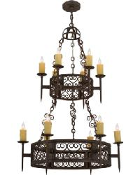 Toscano 12 LT Two Tier Chandelier by