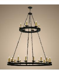 Loxley 24 LT Two Tier Chandelier by