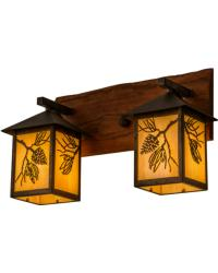 Balsam Pine 2 LT Wall Sconce by