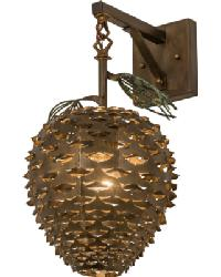Stoneycreek Pinecone Hanging Wall Sconce by