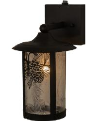 Fulton Winter Pine Solid Mount Wall Sconce by