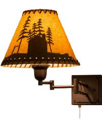 Cabin in the Woods Swing Arm Wall Sconce by