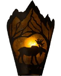 Moose at Dawn Right Wall Sconce by