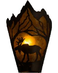 Moose at Dawn Left Wall Sconce by