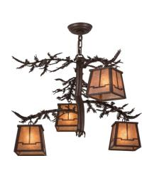 Pine Branch Valley View 4 LT Chandelier by