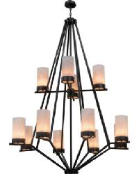 Galen 12 LT Two Tier Chandelier by