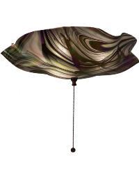 Metro Fusion Noir Swirl Iridescent Flushmount by