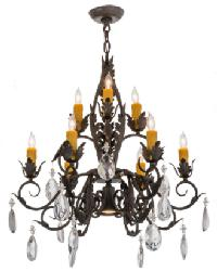 New Country French 9 LT Chandelier by