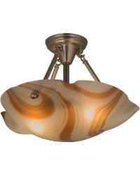 Metro Fusion Cognac Swirl Semi-Flushmount by
