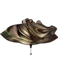 Metro Fusion Noir Swirl Iridescent Fan Light by
