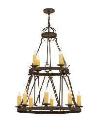 Lakeshore 12 LT Two Tier Chandelier by