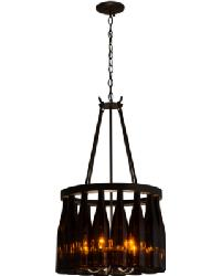 Tuscan Vineyard Estate 16 Wine Bottle Chandelier by