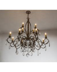New Country French 12 LT Chandelier by