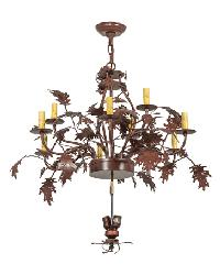 Greenbriar Oak 9 Arm Chandelier Hardware by