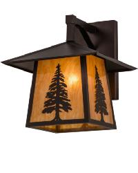 Stillwater Tall Pine Straight Arm Wall Sconce by