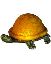 Turtle Art Glass Accent Lamp by