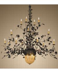 Greenbriar Oak 16 Arm Chandelier by