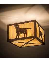 Labrador Retriever Flushmount by