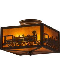 Train Flushmount by
