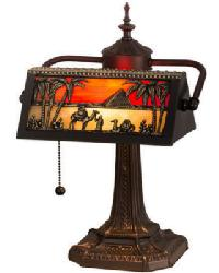 Camel Mission Bankers Lamp by