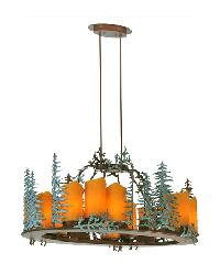 Tall Pines 12 LT Oval Chandelier by