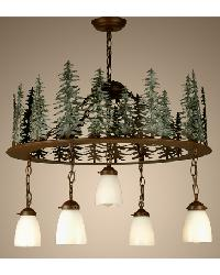 Tall Pines 5 LT Chandelier by