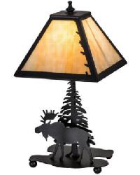 Lone Moose Accent Lamp by